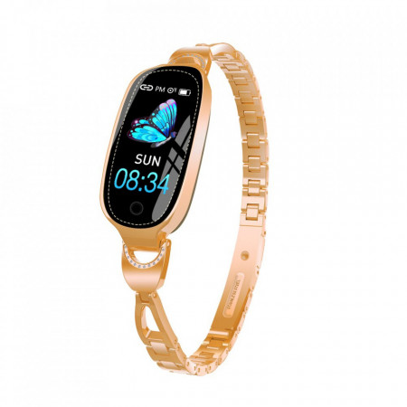 Bratara fitness smart dama F18G, memento perioada menstruala, ritm cardiac, padometru, iOS si Android, Bluetooth 4.0