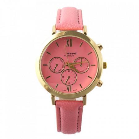 Ceas de dama Geneva Leto pink