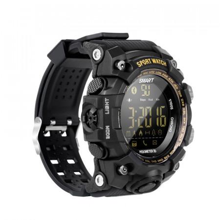 Ceas smartwatch RegalSmart EX16S-181 Sport BT 4.0, monitor fitness, padometru, Android, iOS, notificari, negru