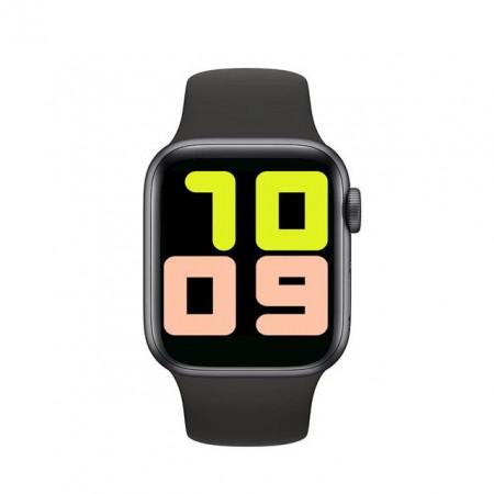 Ceas smartwatch T500, ritm cardiac, monitorizare somn, tensiune arteariala, iOS si Android