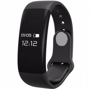 Bratara fitness smart H30 BT 4.0, monitorizare dinamica puls, Android, iOS, intrari apeluri, negru