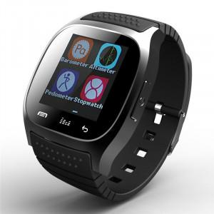 "Ceas smartwatch M26 Bluetooth, ecran 1.5"", barometru, pedometru,, notificari SMS, Facebook, Whatsapp, negru"