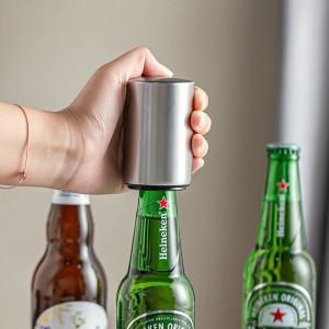 Desfacator automat capace sticle de bere, argintiu
