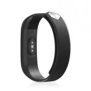 Bratara fitness smart HR BT 4.0, ritm cardiac, pedometru, remote camera, notificari, Android, iOS, vibratii, negru