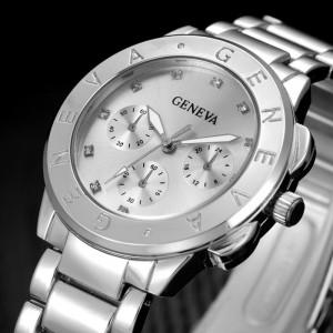 Ceas Dama Geneva Casual Silver