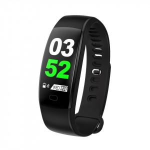 Bratara fitness smart F64, ritm cardiac, tensiune arteriala, iOS si Android
