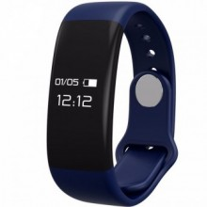 Bratara fitness smart H30 BT 4.0, monitorizare dinamica puls, Android, iOS, intrari apeluri,albastru