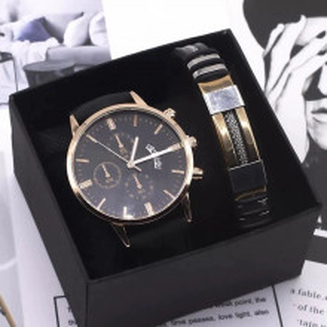 Set cadou cu ceas barbatesc Gescar si bratara eleganta cadou