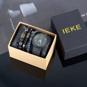 Set cadou cu ceas barbatesc Ieke si bratari elegante