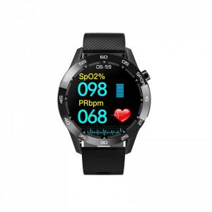 Ceas smartwatch F22L, ritm cardiac, nivel oxigen sange, padometru, iOS si Android, Bluetooth 4.0