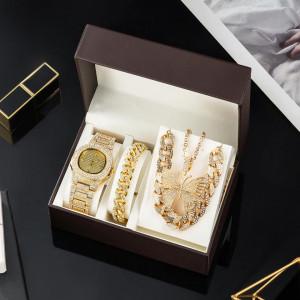 Set cadou cu ceas de dama Geneva cu lant si bratara elegante