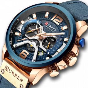 Ceas barbatesc Curren Cronograph Blue Ocean