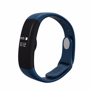 Bratara fitness smart RegalSmart H30-173 BT 4.0, monitorizare dinamica puls, Android, iOS, intrari apeluri,albastru