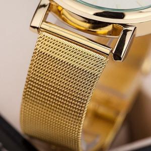 Ceas de dama Geneva grid gold white