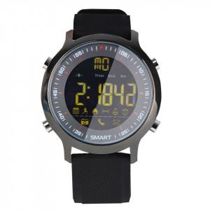 Ceas smartwatch Sport EX18 BT 4.0, Android, iOS, padometru, anti-lost, notificari, negru