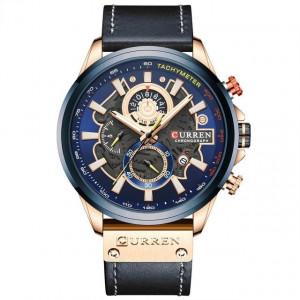 Ceas barbatesc Curren 8380 Cronograph Blue Sky