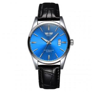 Ceas Barbatesc Swidu deep blue leather