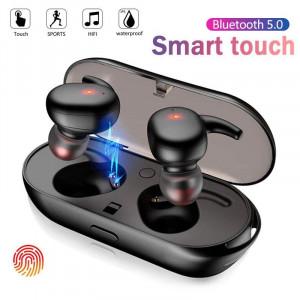 Casti audio wireless Y30 cu bluetooth 5.0 tip in-ear