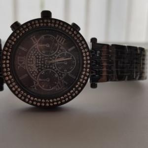 Ceas de dama Geneva crystal roman black