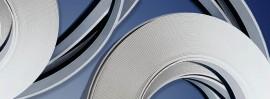 Coprifili in barre larghezza 40 mm, colore bianco immagini