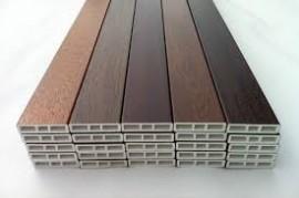 Profilo cornice pellicolato standard liscio da 80mm x 7 mm  - profilo complementare di finitura in PVC - paco di 5 barre di 6 mt immagini
