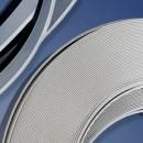 Coprifili in barre larghezza 100 mm, colore bianco