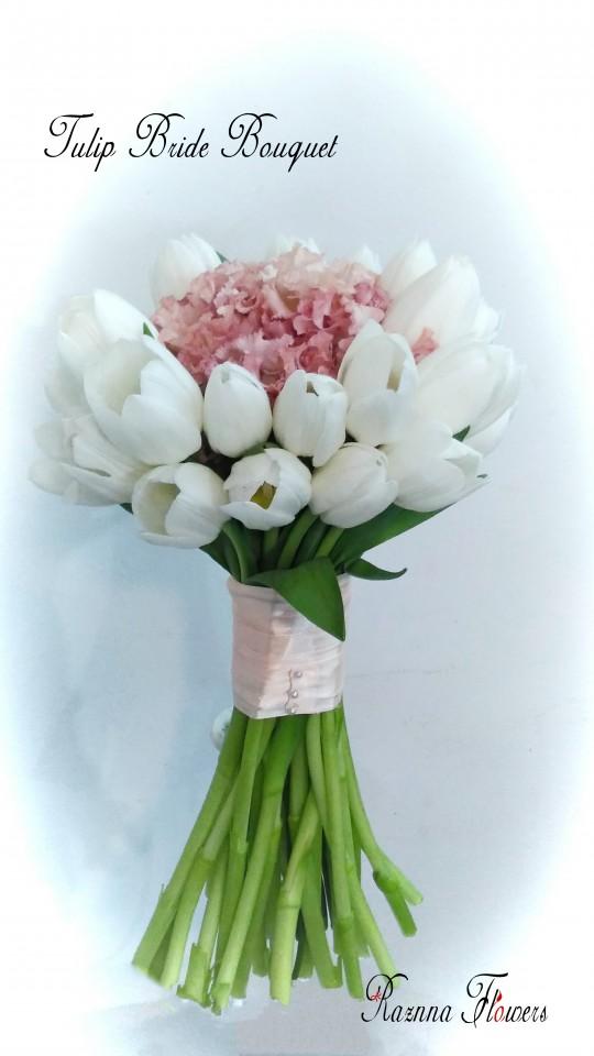tulip bride bouquet