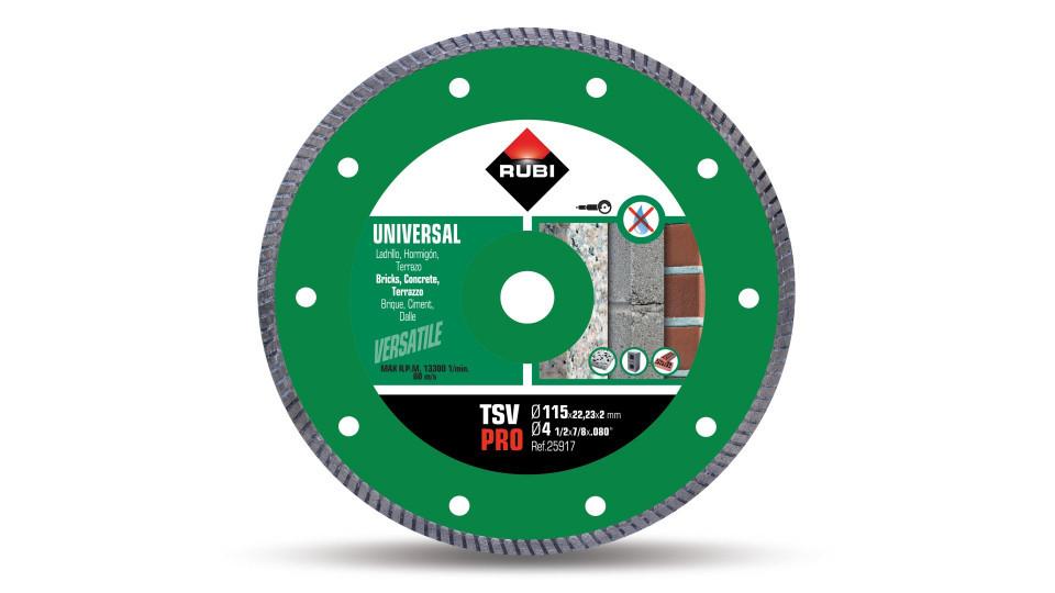 Disc diamantat pt. beton si caramida 115mm, TSV 115 Pro - RUBI-25917 RUBI