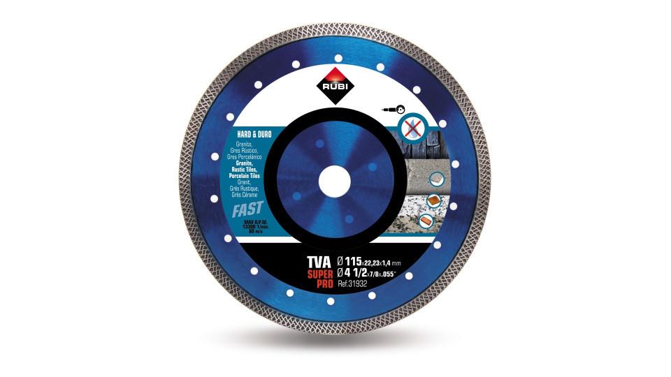 Disc diamantat pt. materiale foarte dure 115mm, TVA 115 SuperPro - RUBI-31932 RUBI