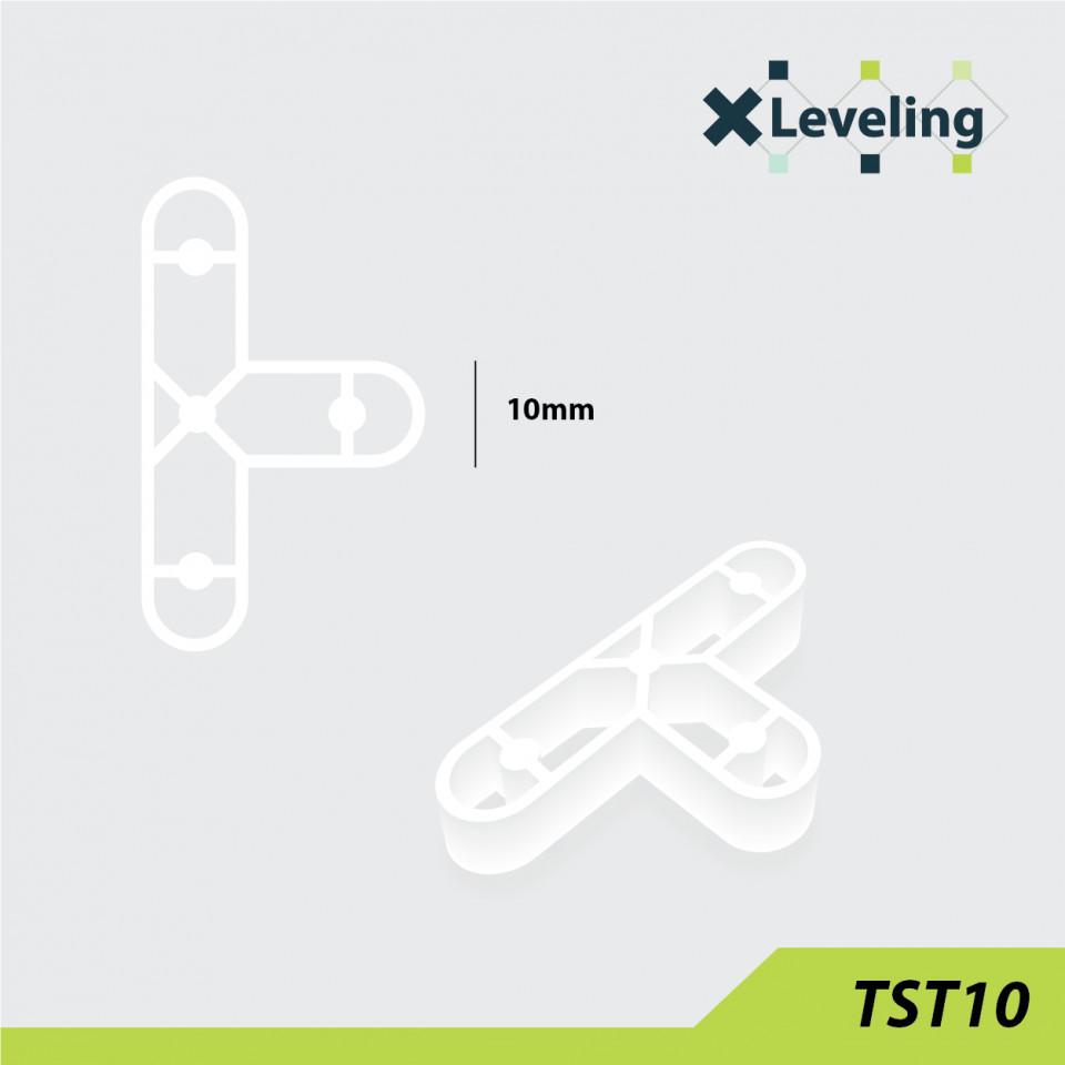 Distantieri tip T ( Teuri ) pt. placi - gresie si faianta - Rost 10 mm - 250 buc - XLEV-TST10-250 XLeveling