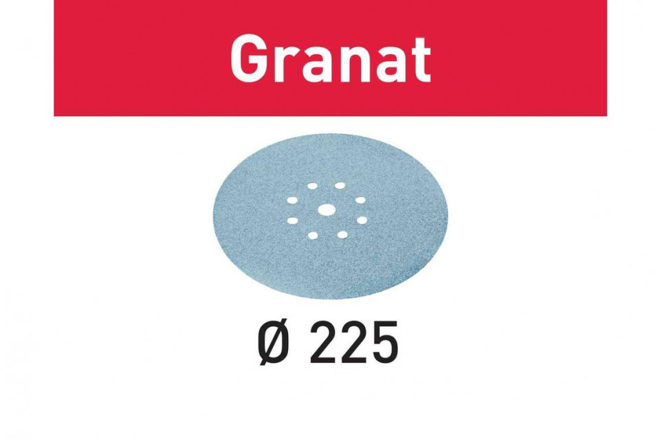 Foaie abraziva STF D225/8 P60 GR/25 Granat Festool