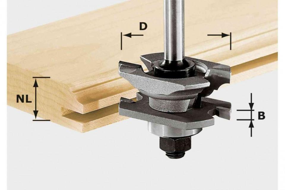 Freză de canelare şi de profilat HW S8 D46 x D12-NT imagine Festool albertool.com