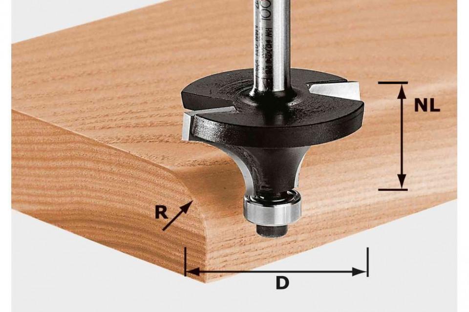 Freza de rotunjit HW S8 D25,5/R6,35 KL imagine Festool albertool.com