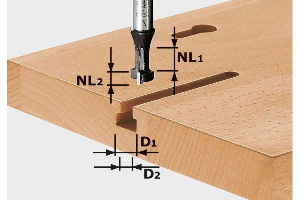 Freză pentru caneluri în T HW S8 D10,5/NL13 imagine Festool albertool.com