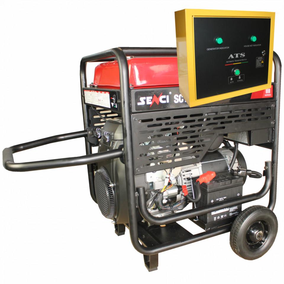 Generator de curent monofazat SC13000-EVO-ATS Putere max. 11 kW Panou de automatizare imagine SENCI albertool.com