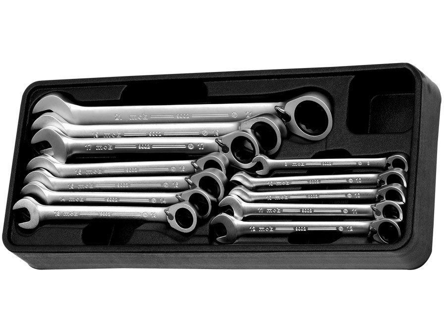 Modul PVC cu 12 chei combinate cu clichet 12 scule imagine MOBIUS - BRASOV albertool.com