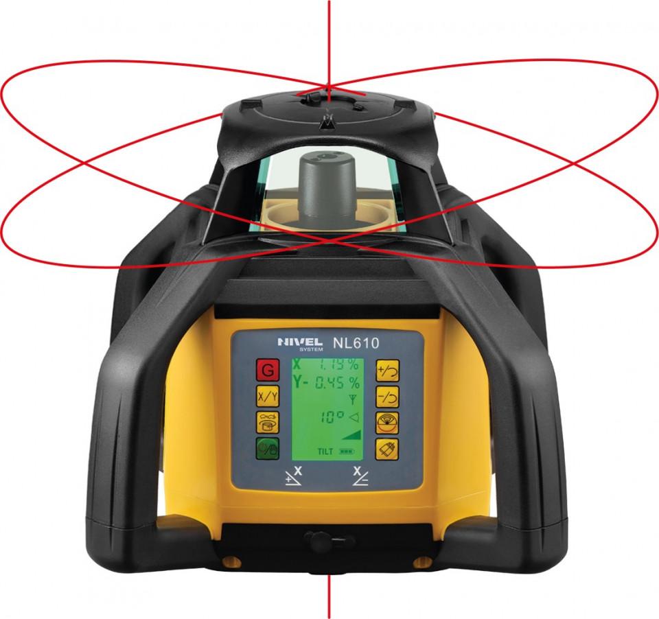 Pachet Nivela laser NL610 DIGITAL cu stadie, trepied si senzor laser pentru utilaje LS-B10 - Nivel System NIVEL SYSTEM