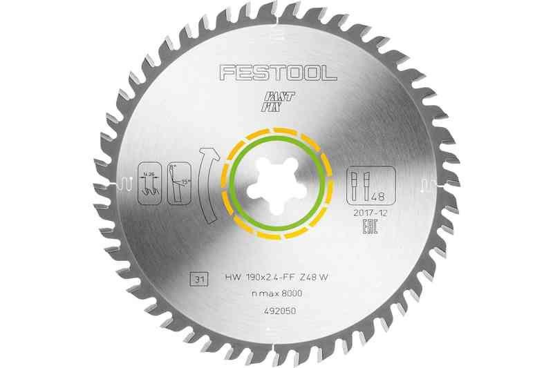 Panza de ferastrau circular cu dinti fini 190x2,4 FF W48 Festool