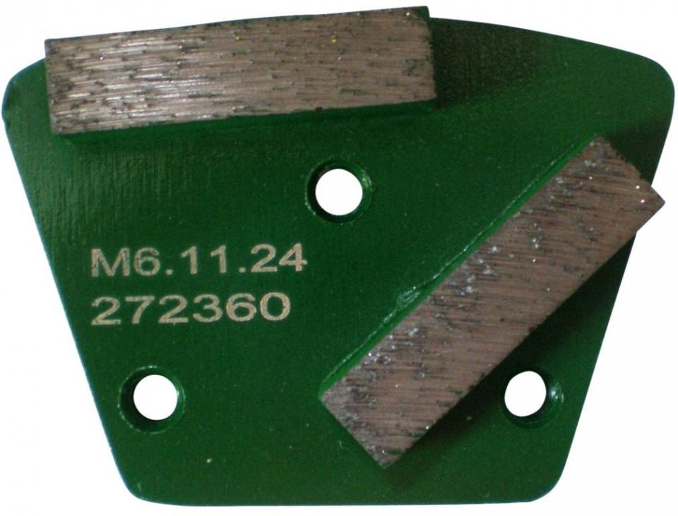 Placa cu segmenti diamantati pt. slefuire pardoseli - segment dur (verde) - # 40 - prindere M6 - DXDH.8506.11.24 DiamantatExpert