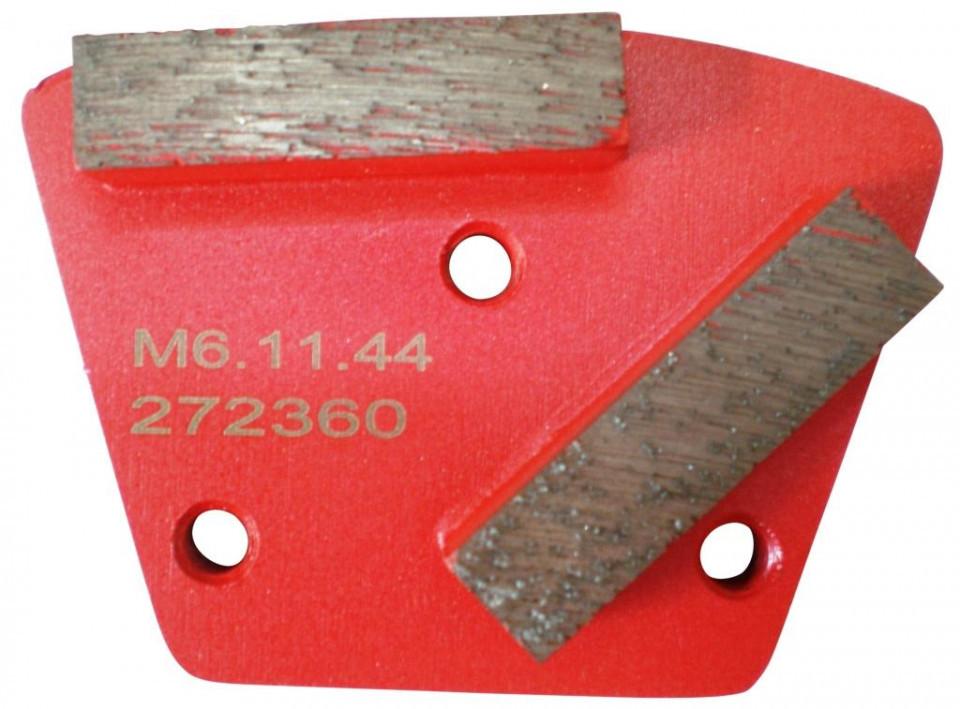 Placa cu segmenti diamantati pt. slefuire pardoseli - segment mediu (rosu) - # 150 - prindere M6 - DXDH.8506.11.46 DiamantatExpert