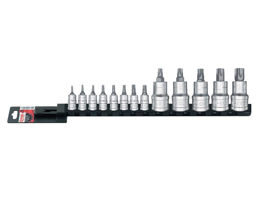 """Set 13 capete tubulare cu bituri Torx 1/4""""-1/2"""" L 445 mm MOBIUS - BRASOV"""