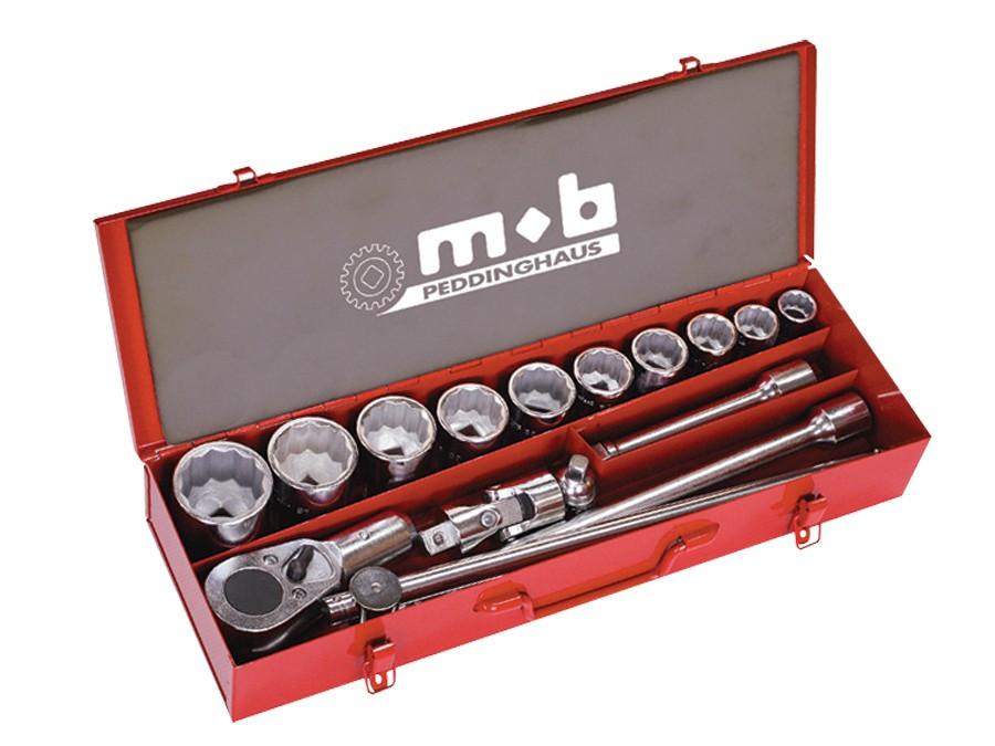 """Trusa capete chei tubulare si accesorii HEAVY16×1"""" DH 650×200×110 imagine MOBIUS - BRASOV albertool.com"""
