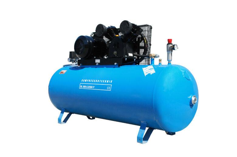 Compresor cu piston - Blue Line 5,5kW , 800 L/min - Rezervor 500 Litri - WLT-BLU-800-5.5/500 imagine 2021
