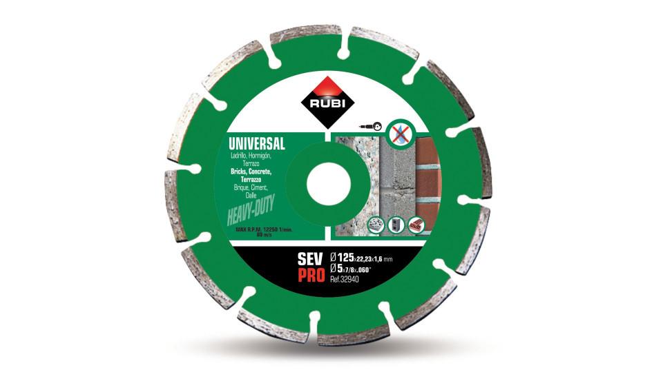 Disc diamantat pt. beton si caramida 125mm, SEV 125 Pro - RUBI-32940 RUBI