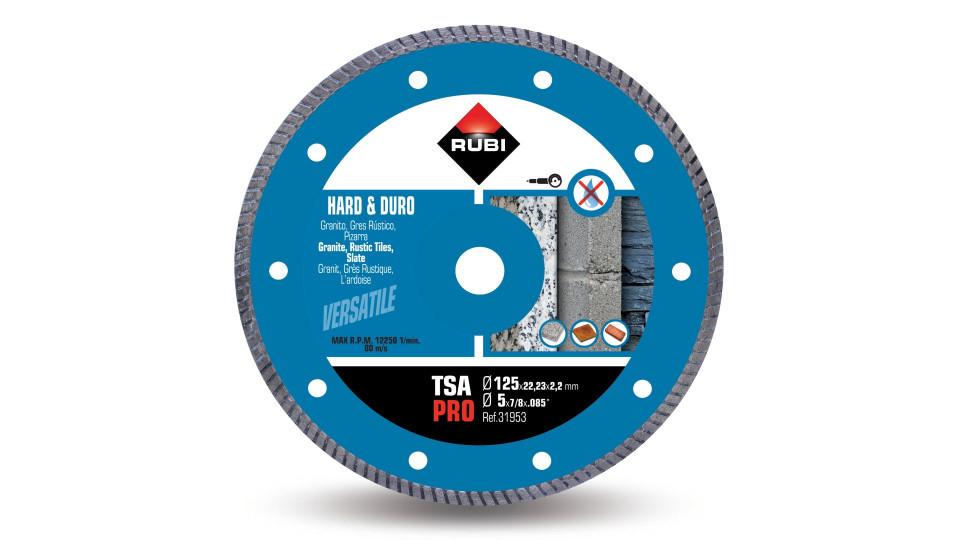 Disc diamantat pt. materiale foarte dure 125mm, TSA 125 Pro - RUBI-31953 RUBI