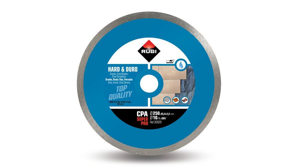 Disc diamantat pt. materiale foarte dure 250mm, CPA 250 SuperPro - RUBI-30929 RUBI