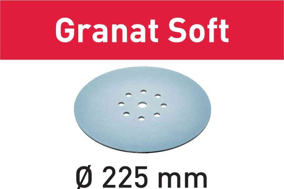 Foaie abraziva STF D225 P320 GR S/25 Granat Soft Festool