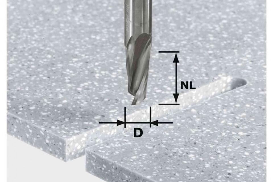 Freză pentru canale elicoidale HW Spi D12/42 RD ss S12 imagine Festool albertool.com