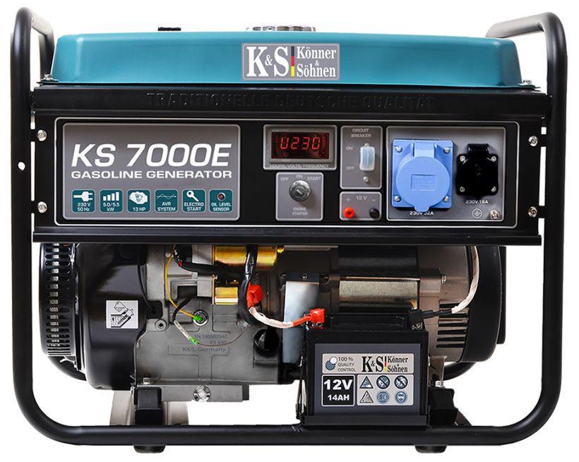 Generator de curent 5.5 kW benzina PRO - Konner & Sohnen - KS-7000E imagine Konner & Sohnen albertool.com