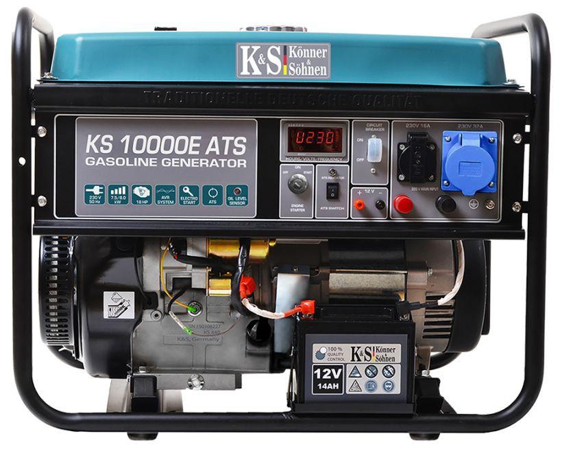 Generator de curent 8 kW benzina PRO - Konner & Sohnen - KS-10000E-ATS imagine Konner & Sohnen albertool.com